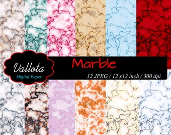 Marble wallpaper. Colored marble backgrounds for printing. Digital paper.