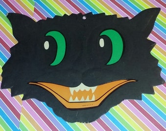 Vintage Lot of 2 1950s Die Cut Luhr Paper Halloween Decorations