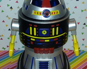 Vintage 1980s Plastic Battery Operated Toy Robot