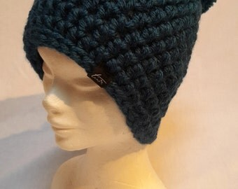 Handmade Midnight Blue Ski and Snowboard Beanie