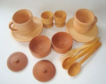 Play kitchen set. Play kitchen wood set. Wooden toys.