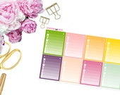 Modern Daily Habit Tracker -- Matte Planner Stickers