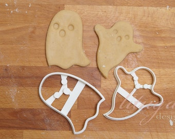 Halloween cookie cutter set, Halloween ghost buiscuit cutter set - Set of 2 (two) cutters