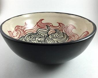 Medieval Ocean - Handmade Pottery Bowl
