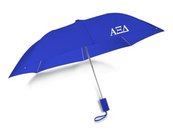 axid alpha xi delta letters umbrella auto open folding sorority umbrella with matching case