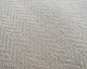 Scottish Tweed Fabric- Geelong Lambswool Herringbone Weave- By the Meter