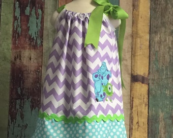 Monsters Inc. pillowcase dress, Pillow case dress