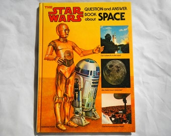 The Star Wars Question and Answer Book About Space Vintage 1979 Hardcover Book