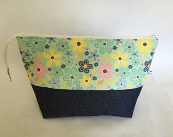 Open Wide Zippered Pouch