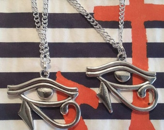 SALE Eye of Horus, Egyptian Eye/Wadjet Necklace