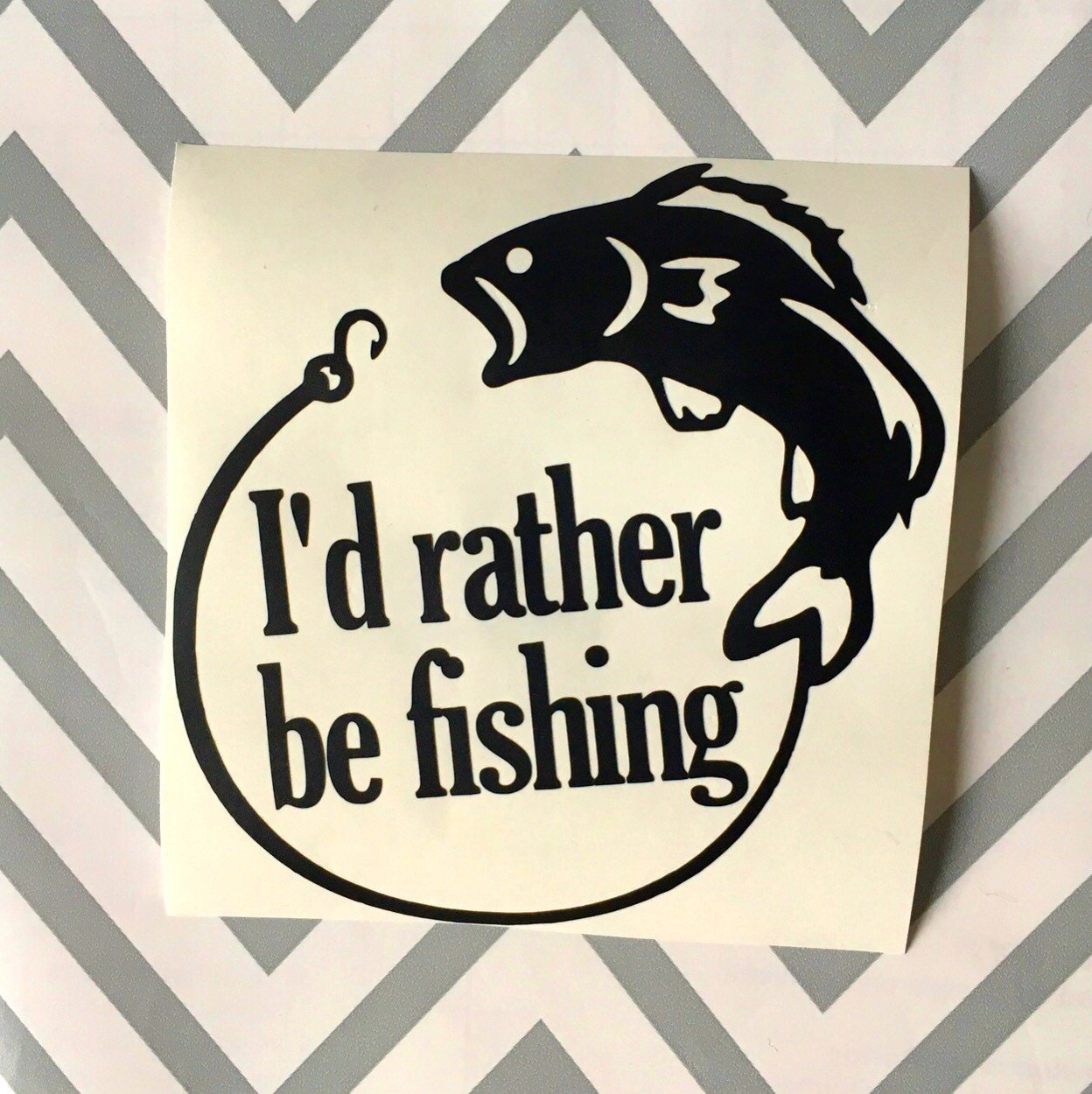 i 39 d rather be fishing decal fishing decal gone fishing