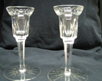 """Waterford candle holders Pair vintage 5 3/4"""""""