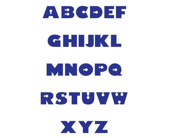 Finding Nemo Font Vectors Alphabet Cutting Files From