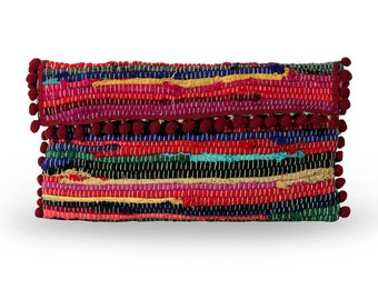 Kourelou envelope bag in boho style with tassels