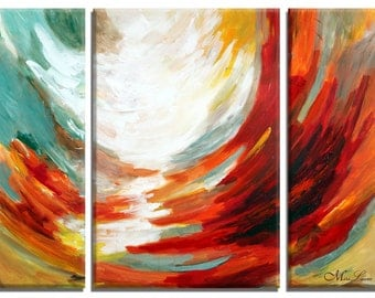Abstract Oil Paintings on Canvas, Wall Art Set, Abstract Painting, Fine Art Painting, Abstract Canvas Art, Painting Abstract, Four Elements