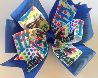 One Direction Grosgrain Stacked Pinwheel Boutique Bow