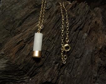 Concrete Mini Column Necklace - Gold Dipped