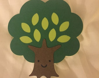 6 Cricut Die Cut Tree Embellishments