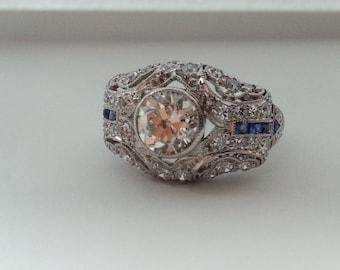 "Platinum ""Belle Epoch"" diamond solitaire"