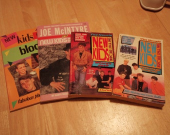 Lot of 4 New Kids On The Block Books