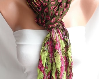 Wrinkled Scarf, Pareo Beach, Woman Accessories,Woman Fashion,Gift For Her,Lightweight Scarf,Summer Scarf, Mother's Day Gift