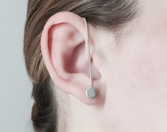 ear chain with earring / flexible earcuff