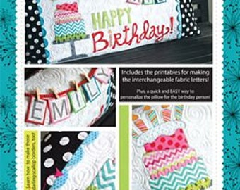 Happy Birthday Bench Pillow By KImberbell Designs # KD186