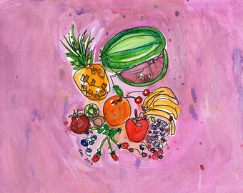 Fruit - PAiNtBABies - PRINT