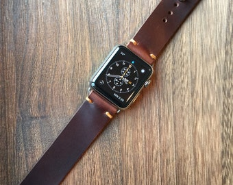 Apple Watch Band-Chestnut Brown Horween™ Chromexcel™ Leather