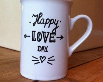 "valentine mug ""happy love day"""