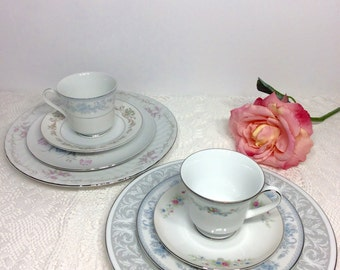 Mismatched Fine China Serving For Two All Made In Japan Porcelain