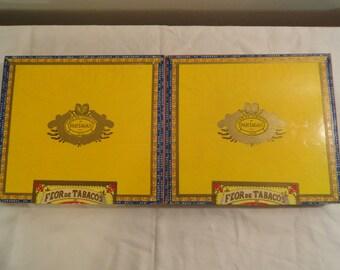 Pair Of Vintage Flor De Tabacos Partagas No. 10 Cigar Boxes