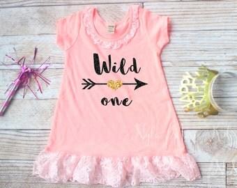 Wild One, Birthday Dress, 1st Birthday Outfit, 2nd Birthday Dress, 2 Year Old, Birthday Shirt, Birthday Girl,