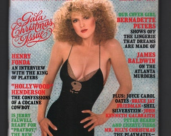 Mature Vintage Playboy Mens Girlie Pinup Magazine : December 1981 VG+ White Pages Intact Centerfold