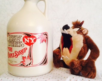 100% NY Pure Maple Syrup Grade A Amber Rich/Dark Robust - Gallon (128oz)