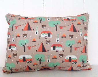 camping bears cushion cover - Free Shipping Australia wide