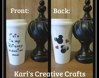 Disney planning mug, Disney, Disney Mug, This is my Disney planning mug, Disney Trip, Disney coffee cup, Minnie mouse mug, Mickey Mouse Mug