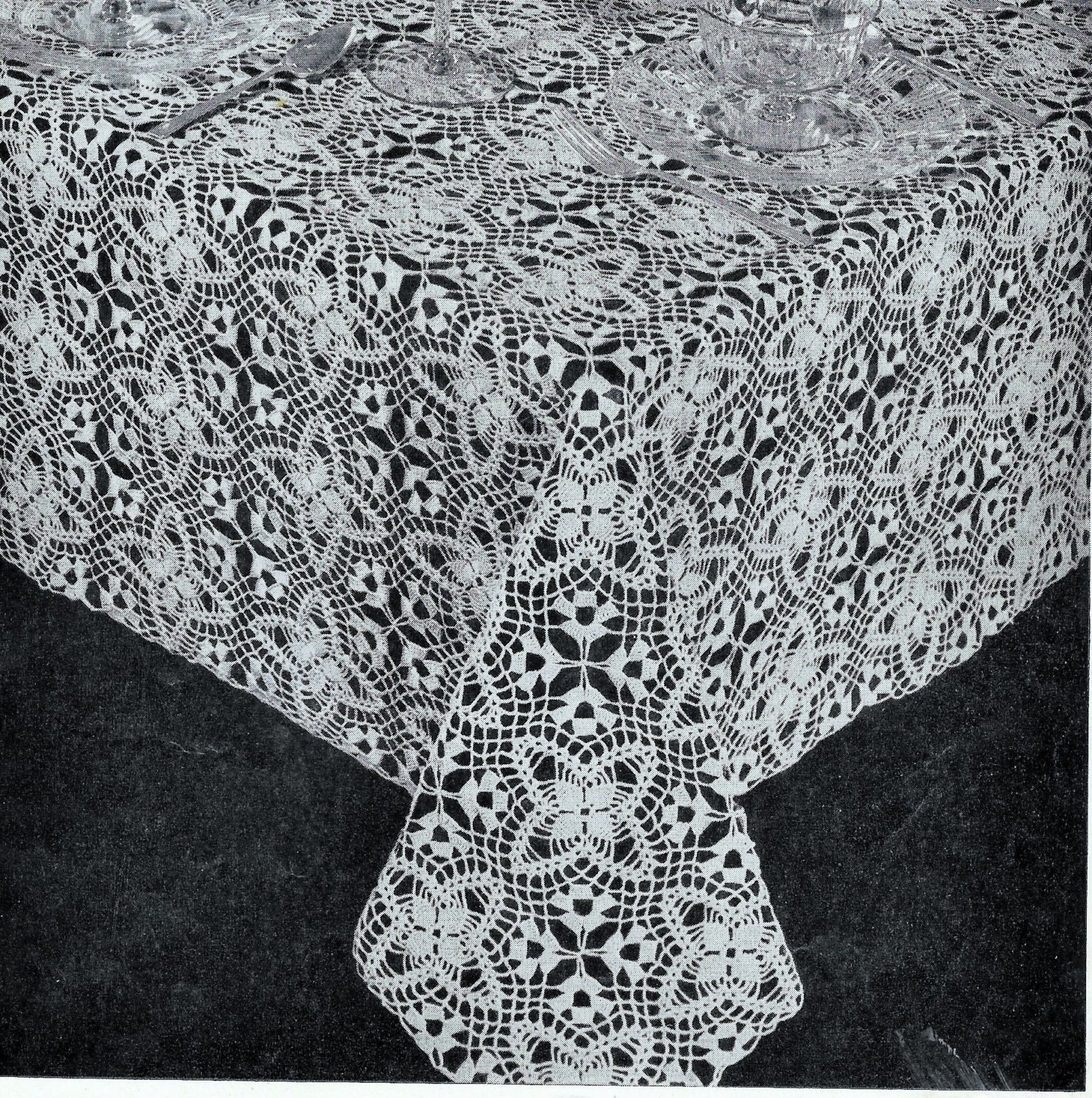 Crochet tablecloth pattern square motif lace crochet tablecloth this is a digital file bankloansurffo Gallery