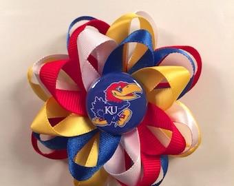 KU Jayhawks Hair Bow