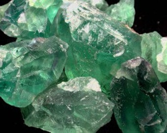 5 Green Fluorite LARGE Healing Crystal Stones Perfect for Crystal Grid, Jewelry Supplies