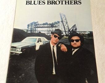"""1989 The Blues Brothers - Elwood J. Blues Dan Aykroyd, """"Joliet"""" Jake E. Blues John Belushi - Rare Original Advanced Screening Program Folder"""