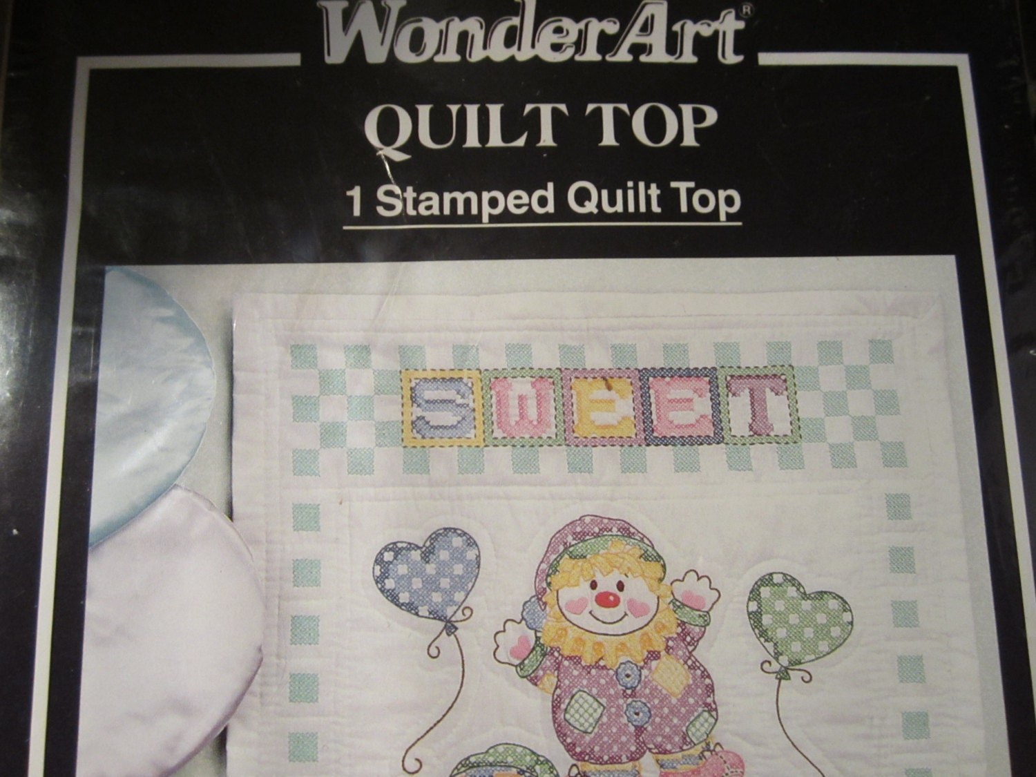 Wonder Art Stamped Quilt Top Printed Fabric Ready To