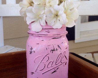 Individual painted & distressed mason jars