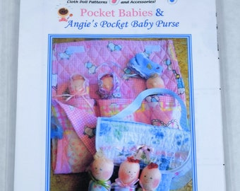 Dinky Baby Pattern 061 & 068 - Pocket Babies and Angie's Pocket Baby Purse - Old Version