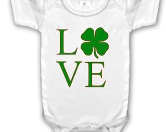 Love Shamrock bodysuit/Shirt