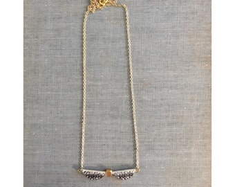 Silver and Gold Minimalist Necklace