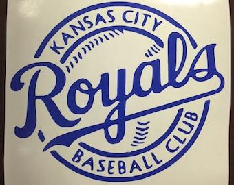 Kansas City Royals Decal,Kansas City Royals baseball decal, KC decal