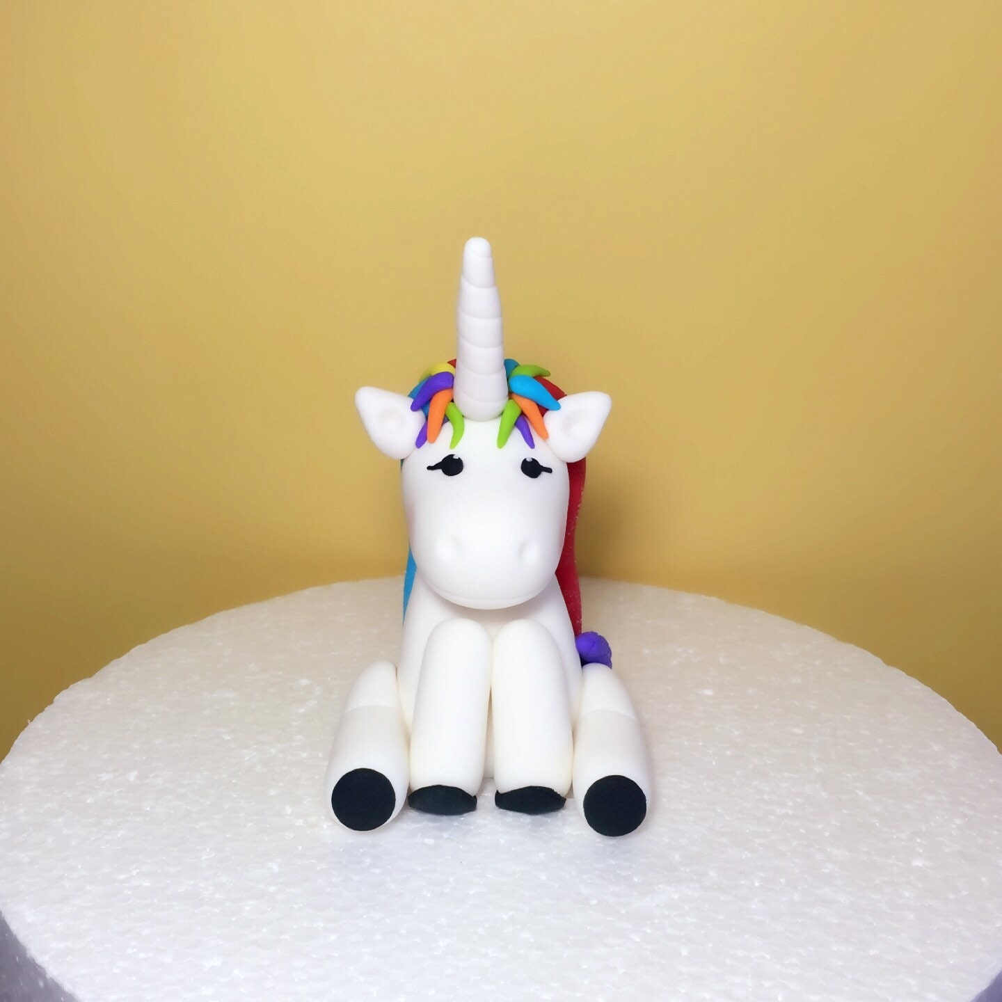 Fondant Unicorn Cake Topper Fondant Rainbow Unicorn