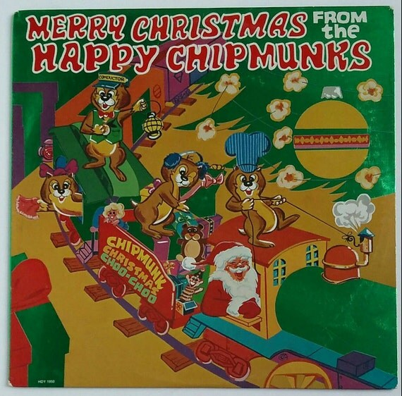 Merry Christmas From The Happy Chipmunks 1982 Holiday Records