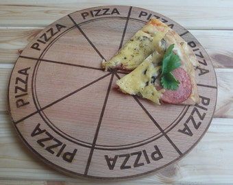 Wooden Pizza Board PIZZA FOR ALL Laser engraved pizza board